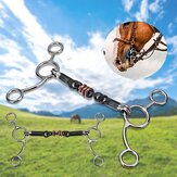 135mm/145mm Stainless Steel Horse Mouth Ring Jointed Bit Equestrian Snaffle Tool