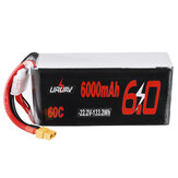 Original              URUAV 22.2V 6000mAh 60C 6S Lipo Battery XT60 Plug for RC Racing Drone