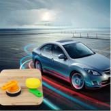 Car Waxing Cleaning Sponge Delicato Soft Manico in plastica Round Waxer Car Maintenance Strumenti