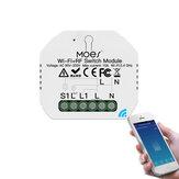 MoesHouse Mini DIY WiFi RF433 Módulo de interruptor de relé inteligente Smart Life / Tuya App Control para Alexa Google Home 1 Gang 1/2 Way