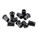 50pcs 3MM LED Holder Black Plastic Diode Lampshade Holder Clip Bezel Mount Light Case Cup Bezels Mounting Cases