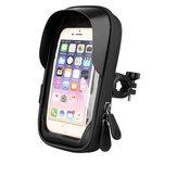 BIKIGHT 9*17CM 0.33MM TPU Touch Screen Bicycle Phone Holder Electric Bike Navigation Phone Mount Waterproof 360° Rotating Bike Bag
