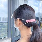 4 stuks kinderen verstelbare cartoon gezichtsmasker gesp 2 slots kind gezichtsmasker opknoping haak
