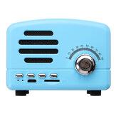 Portátil Vintage Retro Mini FM Rádio Sem Fio bluetooth Speaker Cartão TF USB Carga