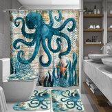 165/180cmOctopusWaterproofbadkamer douchegordijnen met C-vormige gordijnhaken