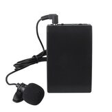 Mini Wireless Cordless Clip-on Lapel Tie Microphone Mic Transmitter Set for Teacher Lecturer Office Meeting