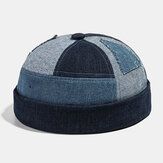Collrown Herren Vermieter Hut Summer Street Trends Melon Cap Denim Brimless Huts