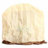 Al aire libre Impermeable BBQ Cover Smoker Barbecue Grill Protection Caja con ventana de ventilación de aire