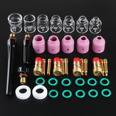 41Pcs TIG Welding Torch Nozzle Stubby Gas Lens Glass Cup Kit for WP17/18/26+Box