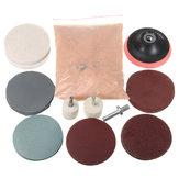 32-elementowy zestaw do polerowania Filcowa podkładka polerska z tarczą polerską i proszkiem z tlenku ceru 230 g
