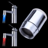 5pcs Color Changing LED Faucet Color Changing Water Tap Light Silver