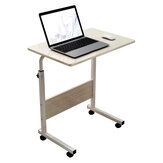 Moveable Computer Laptop Desk Height Adjustable Writing Study Table Workstation with Wheels Home Office Furniture
