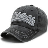 Outdoor Embroidery Letters Personalized Edging Washed Denim Baseball Cap Sunshade Hat