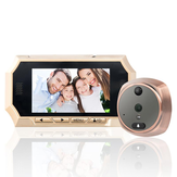 4.3 polegadas TFT LCD Screen Digital Peephole Door Viewer Camera PIR Detecção de movimento Campainha 160 Grau