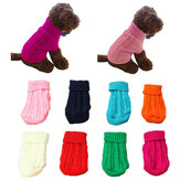 Pet Dog Cat Clothes Winter Solid Warm Sweater Knitwear Puppy Clothes Pest Coats