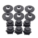 6pcs Spools+6pcs Cap Combo Lawnmower Head Cover For Stihl 25-2 FS 90 100 110 120 130 55 80 83 85