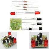 3 pcs DC 3-14 V DIY Simples LED Vermelho Lanterna Circuito Kits DIY Multiharmonic Oscilação de Circuito Eletrônico Define PCB Board + Componentes Eletrônicos + Instruções