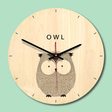 Wooden Wall Clock Livingroom Wood Animal Printing Painting Wall Clock Creative Clock Home Decor
