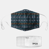 Ethnic Style Geometric Dust Mask PM2.5 7-piece Gasket