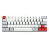 Geek GK64 Aluminiumslegeringskasse 64 nøgler Mekanisk gamingtastatur PBT Keycaps Gateron Switch Hot swappable RGB Gaming Keyboard