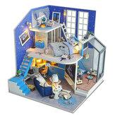 2020 Новогоднее украшение DIY Кукла Дом деревянный Кукла Домики Миниатюрный Кукла Мебель для дома Набор Игрушки для детей Новый год Рождестве