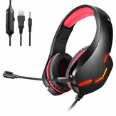 Bakeey J10 Gaming Headset USB 7.1 3.5mm Wired Deep Bass Stereo LED Light Headphone with Mic for PS4 Xbox PC Laptop Gamer