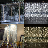 3M*3M 304 LED Window Icicle Curtain Fairy String Light Wedding Party Home Decor US Plug AC110V