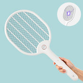 Jordan&judy 3000V Electric Mosquito Swatter Portable Camping Travel Three-layer Anti-electric Shock Net USB Charging Mosquito Dispeller