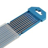 10pcs Tungsten WL20 2.0% Lanthanated Blue Tip TIG Electrode 1/16inch x 7inch