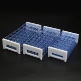 3 Layers Plastic Lab Test Tube Rack Holder Detachable Centrifuge Tube Stand for 13/16/18mm Tubes 40/50 Holes