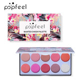 POPFEEL 10 Color Blush Set Without Smudge Nude Makeup Repair Highlighter Blusher