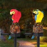 Solar Powered Parrot LED Landscape Lamp Waterproof Garden Outdoor Path Light