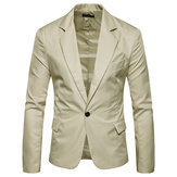 Mens Pure Color Slim Fit Busniess Terno Casual Blazers
