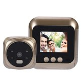 2.4 Inch LCD Video Doorbell Night Vision Talk Smart Door Bell Security Camera LED