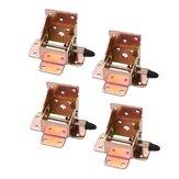 4 Pcs de Ferro de Travamento Dobrável Cadeira de Mesa Perna Suportes Auto Bloqueio Suporte De Mobiliário Dobrável