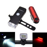 BIKIGHT Bicycle Front Rechargeable Headlight and Tail Rear Light Set USB Led