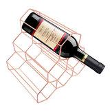 Criativo Triângulo 6 Garrafa Prateleira De Vinho Prateleira Organizador De Armazenamento Titular Casa Cozinha Bar Decor