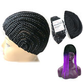 Elastic Cornrow Wig Cap Adjustable Crochet Braided Weaving Cap Lace Hairnet Hair Styling Tool