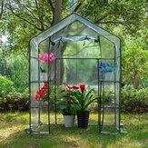 Les étagères portatives de 3 niveaux 6 marchent dans la couverture claire de jardinage de plantes extérieures de mini serre