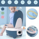 Baby Potty for Toddler Travel Potty Lid Potty Training Toilet Seat PU Cushion Double Anti-Slip Design and Splash Guard