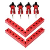 Drillpro2セット木工精密クランプスクエアL字型補助フィクスチャスプライシングボードポジショニングパネル固定クリップカーペンタースクエアルーラー木工ツール