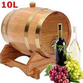 10L bois chêne bois baril keg vin spiritueux port whisky port grillé avec support tonneau en bois