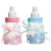 12 stuks Vulbare Flessen Bonbondoos Baby Shower Doop Partij Gunst Doop