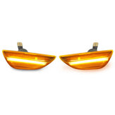 2PCS Dynamic LED Side Indicator Repeater Light For Opel Vauxhall Mokka X Chevrolet