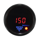 2'' 52mm 20-150℃ Water Temperature Gauge Digital LED Display Black Face Sensor