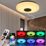 RGBW LED سقف ضوء موسيقى مصباح مكبر صوت بلوتوث التطبيق + التحكم عن بعد مراقبة غرفة نوم ذكي مصباح سقف
