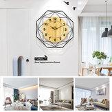 42cm Clear Wide Large Wood Wall Reloj con pegatinas de aves para sala de estudio