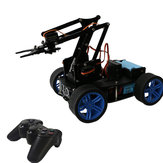 PI Master 'DIY 4WD Tracking Obstable Avoidance Smart RC Robot Arm Car With Wireless Stick Compatible