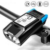 BIKIGHT 3-in-1 fietssnelheidsmeter Draadloos USB Oplaadbaar Dubbel T6 LED-fietsverlichting Fietscomputer met alarmhoorn