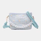 Женская дорожная соломенная сумочка Daisy Crossbody Сумка Плечо Сумка